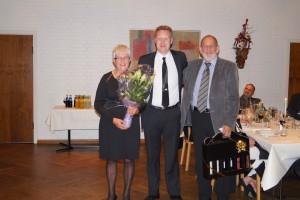 Preben Jensen fik vin, fruen blomster for 40 som medlem af Randers Fodbolddommerklub